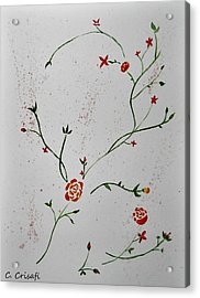 Simple Flowers #1 Acrylic Print