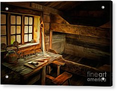 Acrylic Print featuring the digital art Simple Life by Eva Lechner