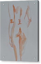 Acrylic Print featuring the painting Simple Nude by Beverley Harper Tinsley