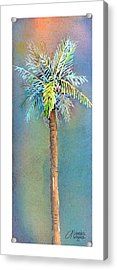 Simple Palm Tree Acrylic Print by Arline Wagner