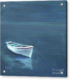 Simple Serenity - Lone Boat Acrylic Print