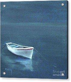 Simple Serenity - Lone Boat Acrylic Print