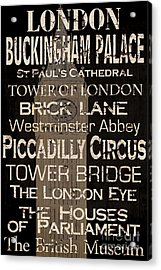 Simple Speak London Acrylic Print
