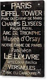Simple Speak Paris Acrylic Print