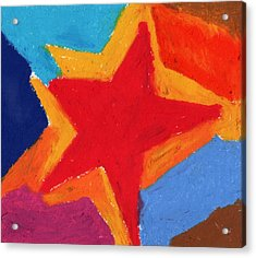 Simple Star-straight Edge Acrylic Print by Stephen Anderson