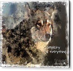 Simplicity Is Everything -light Acrylic Print