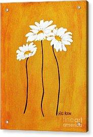 Simplicity L Acrylic Print by Marsha Heiken