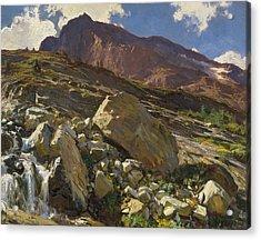 Simplon Pass Acrylic Print by John Singer Sargent