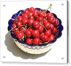 Simply A Bowl Of Cherries Acrylic Print by Carol Groenen