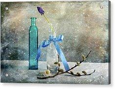 Simply Blue Acrylic Print by Randi Grace Nilsberg