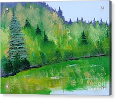 Acrylic Print featuring the painting Simply Green by Rod Jellison