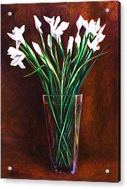 Simply Iris Acrylic Print by Shannon Grissom
