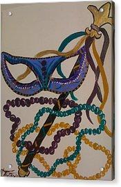 Simply Mardi Gras Acrylic Print by Veronica Trotter
