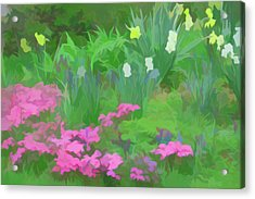 Acrylic Print featuring the photograph Simply Soft Garden Escape by Aimee L Maher Photography and Art Visit ALMGallerydotcom