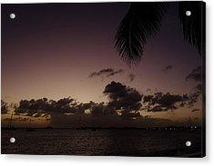 Simpson Bay Purple Sunset Saint Martin Caribbean Acrylic Print
