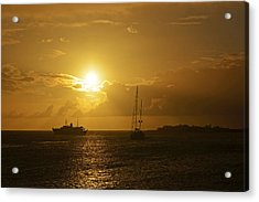 Simpson Bay Sunset Saint Martin Caribbean Acrylic Print