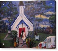 Simpson Christian Community Church Acrylic Print by Gloria Condon