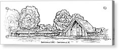 Simpsonville Umc Acrylic Print by Greg Joens