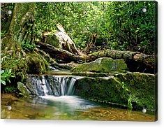 Sims Creek Waterfall Acrylic Print by Meta Gatschenberger
