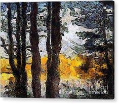 Simulated Van Gogh Scene Acrylic Print