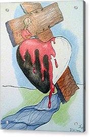 Sin Washer Acrylic Print by Loretta Nash