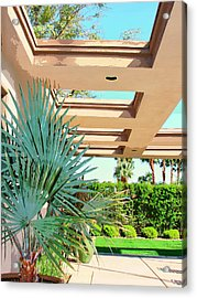 Sinatra Patio Palm Springs Acrylic Print by William Dey