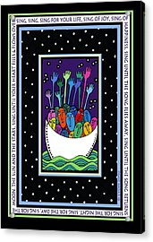 Sing Sing Sing Acrylic Print by Angela Treat Lyon