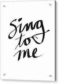 Sing To Me- Art By Linda Woods Acrylic Print by Linda Woods