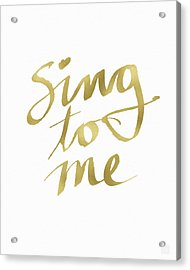 Sing To Me Gold- Art By Linda Woods Acrylic Print