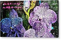 Sing Unto Him A New Song Acrylic Print
