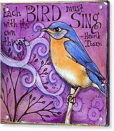 Sing Acrylic Print by Vickie Hallmark