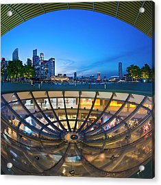 Acrylic Print featuring the photograph Singapore - Marina Bay Sands by Ng Hock How