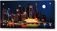 Singapore Aglow Acrylic Print