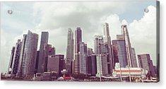 Singapore Cityscape The Second Acrylic Print by Joseph Westrupp