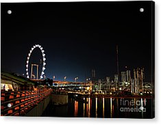 Singapore Waterfront Acrylic Print by Jaroon Ittiwannapong