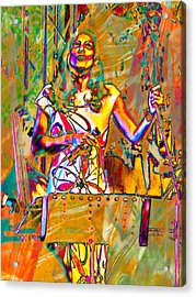 Singer Acrylic Print by Dorothy Berry-Lound