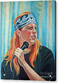 Singer For The Band Acrylic Print by Gail Zavala