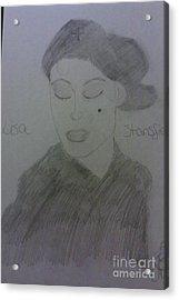 Singer Lisa Stanfield Acrylic Print