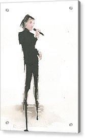 Singer Melting A Jazz Tune Acrylic Print