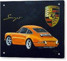 Acrylic Print featuring the painting Singer Porsche by Richard Le Page