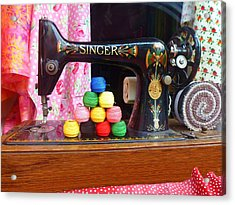 Singer Sowing Acrylic Print
