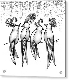 Singin' In The Rain Acrylic Print by Jan Steinle