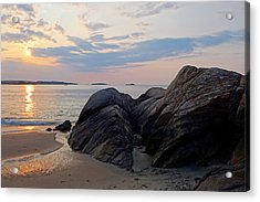 Singing Beach Rocky Sunrise Manchester By The Sea Ma Acrylic Print