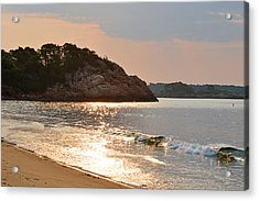 Singing Beach Silver Waves Manchester By The Sea Ma Acrylic Print