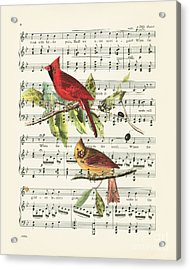 Singing Cardinals Acrylic Print