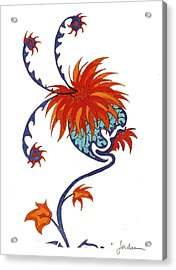 Singing Flower Acrylic Print