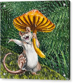 Singing In The Rain Acrylic Print by Beth Davies