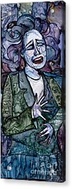 Singing Lady-blues Acrylic Print