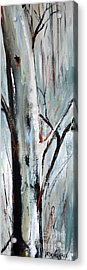 Acrylic Print featuring the painting Single Aspen by Cher Devereaux