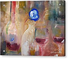 Single Blue And Looking Acrylic Print by Lisa Kaiser